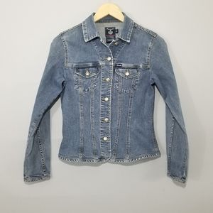 Faconnable Blue Denim Fitted Jean Jacket Size XS